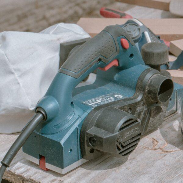 blue Makita wood planer