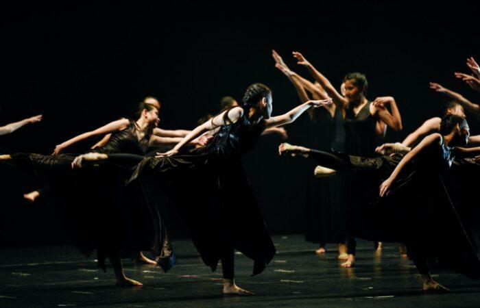 people performing on stage