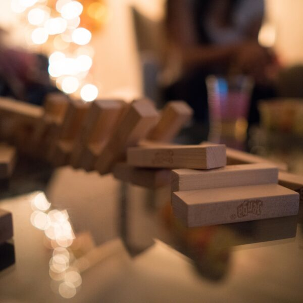 brown wooden blocks on table